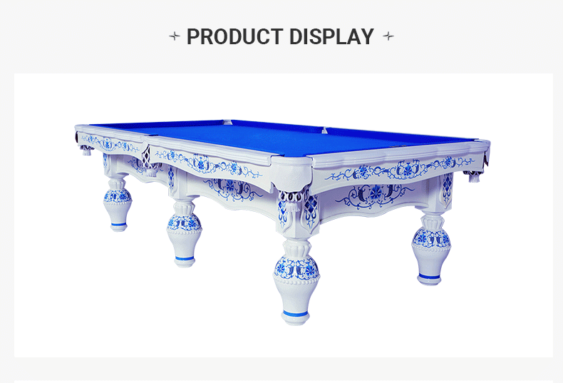 Xingpai Chinese steel library billiard table XW8101-9A Customized blue and white porcelain home billiard table