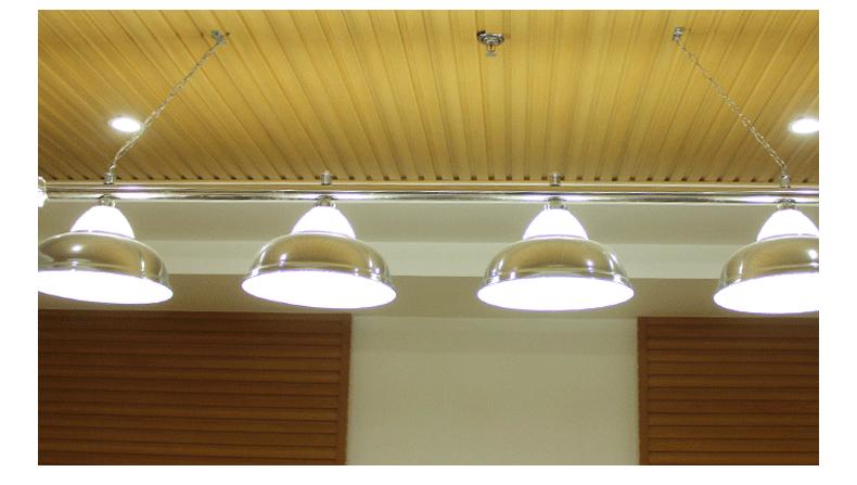 Xingpai pool table Three silver glass lamps