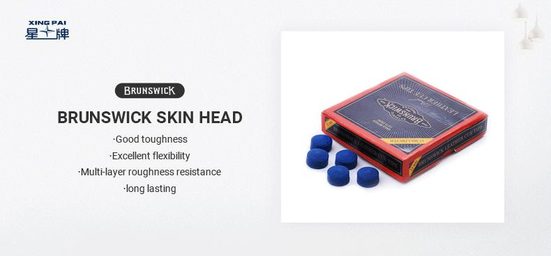 Brunswick Blue Diamond Leather Head
